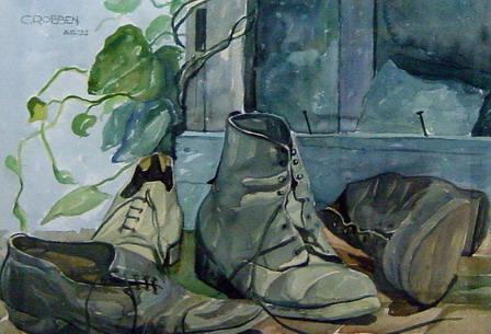 schoen aan hengel